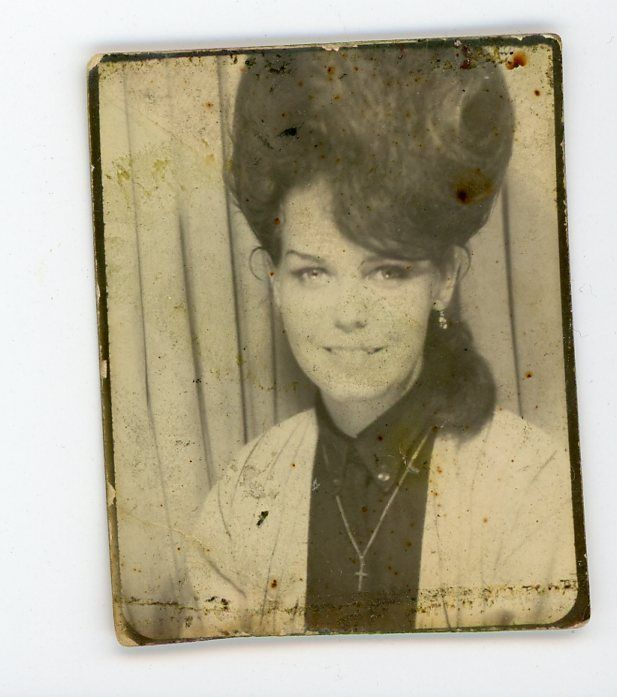 Pretty smiling girl with beehive hairdo  photobooth Vintage photo booth   | eBay