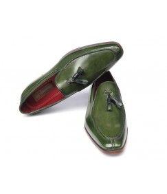 Patina Green  Tassel Loafers
