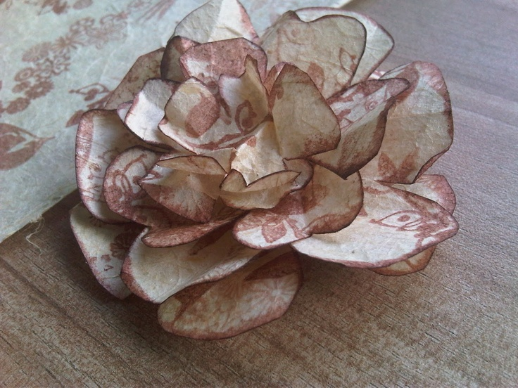 1000 ideas about handmade paper flowers on pinterest for Handmade paper flowers tutorial