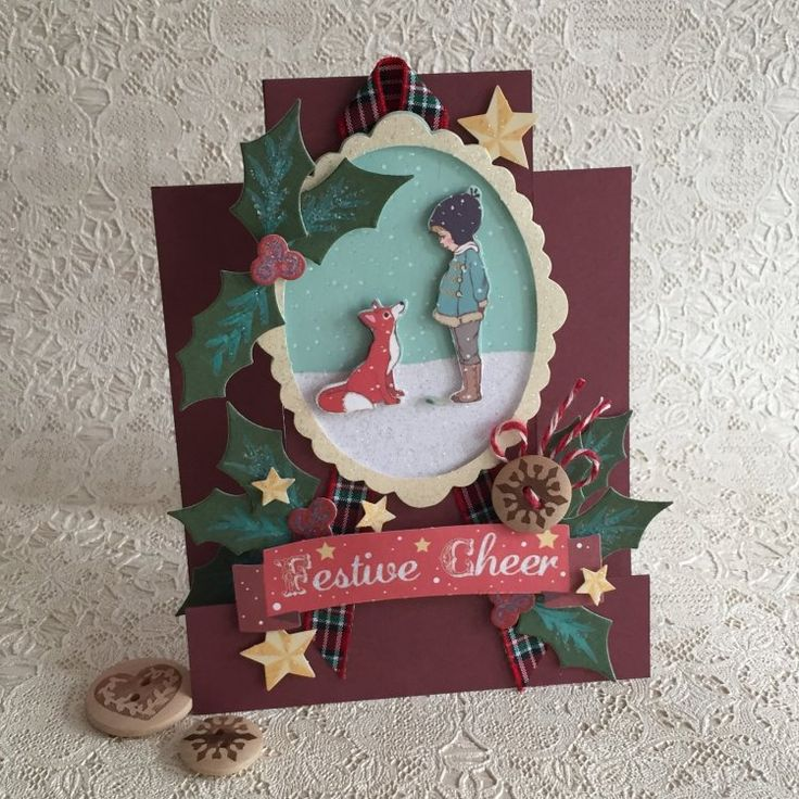 Belle & Boo Christmas fox card by design team member Angie