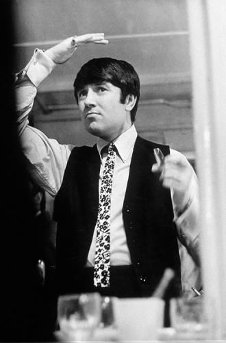 "Jimmy Tarbuck Hair Perfect | Terry O'Neill  English comedian Jimmy Tarbuck on a London stage, 1964.  Limited Edition Silver Gelatin Signed and Numbered  12"" x 16"" / 16"" x 20""  20"" x 24"" / 20"" x 30""  24"" x 34"" / 30"" x 40""  40"" x 60"" / 48"" x 72""  For questions or prices please contact us at info@igifa.com   IGI FINE ART"
