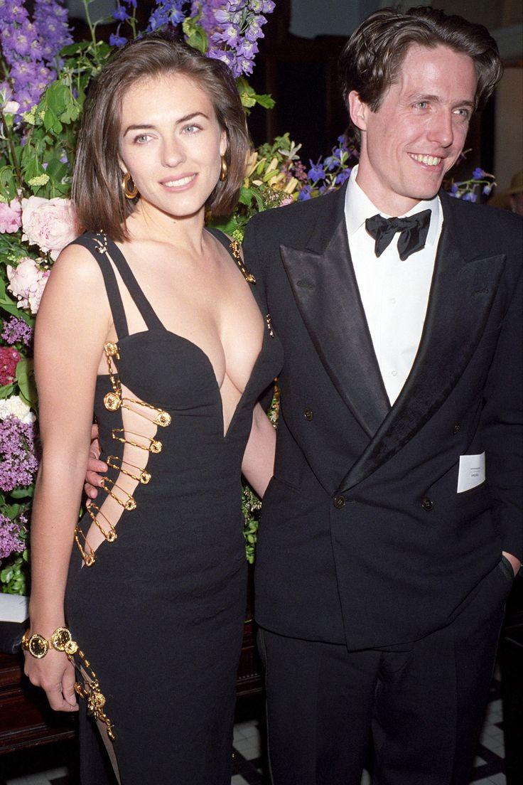 Young Elizabeth Hurley (1280×1920) #versace #dress