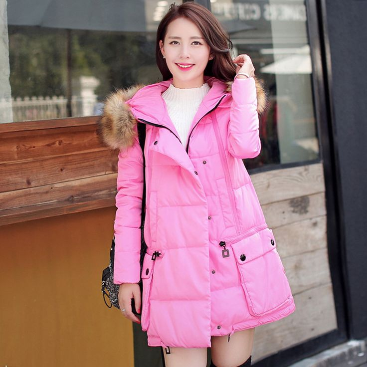 >> Click to Buy << Womens Winter Jackets And Coats Real Top Fashion Down Padded Long Hair Girls Collar Women Coat 2016 Female Thick Winter Jacket.  #Affiliate