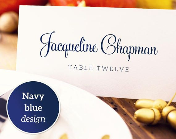 Place Card Template: Instantly download, edit and print your own place cards for weddings, receptions, and special events. These templates are for printing onto quality card stock and can be trimmed on the crop marks.