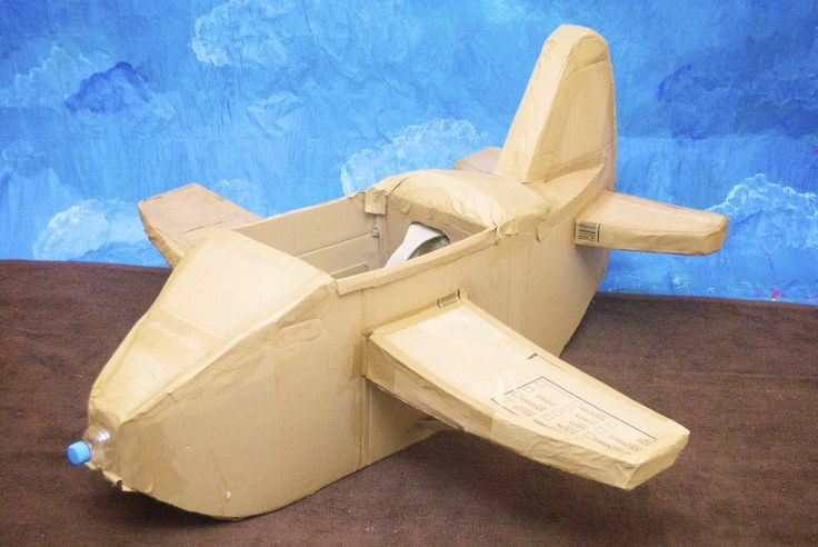 Card Board Airplane another view to help build your own prop
