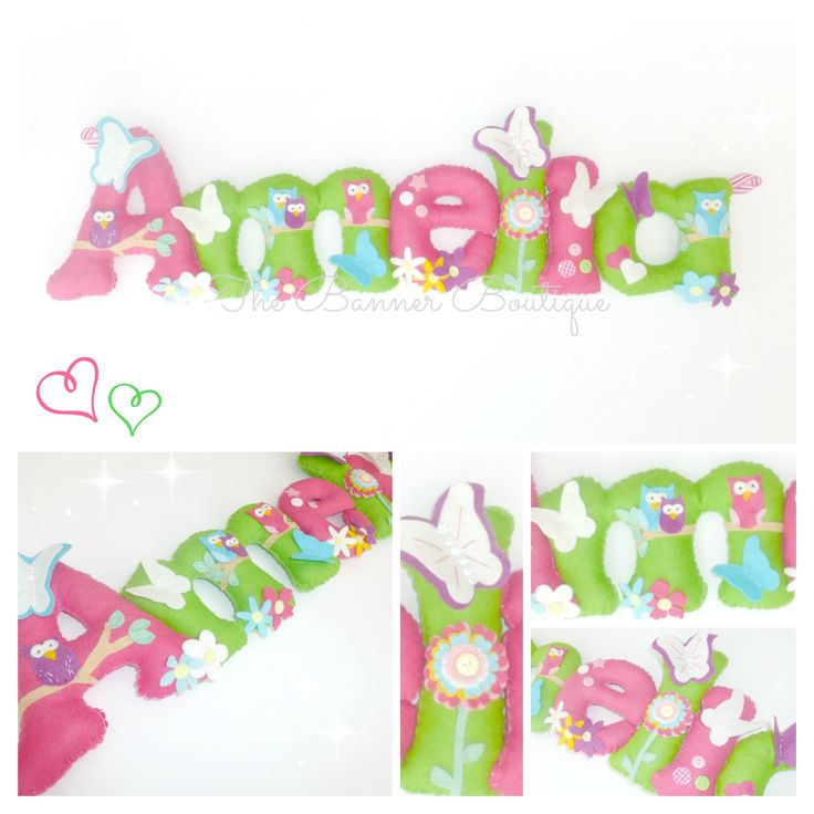 Personalised felt name banner / garland