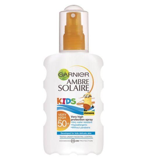 Garnier Ambre Solaire Kids Very High Protection Moisturising Spray SPF 50 - 1 x 200ml - Boots
