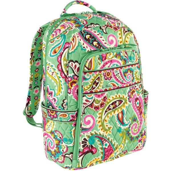 Vera Bradley Laptop Backpack in Tutti Frutti ($75) ❤ liked on Polyvore featuring bags, backpacks, colors, midnight blues, tutti frutti, day pack backpack, laptop bags, backpack bags, laptop rucksack and vertical-zip laptop backpack