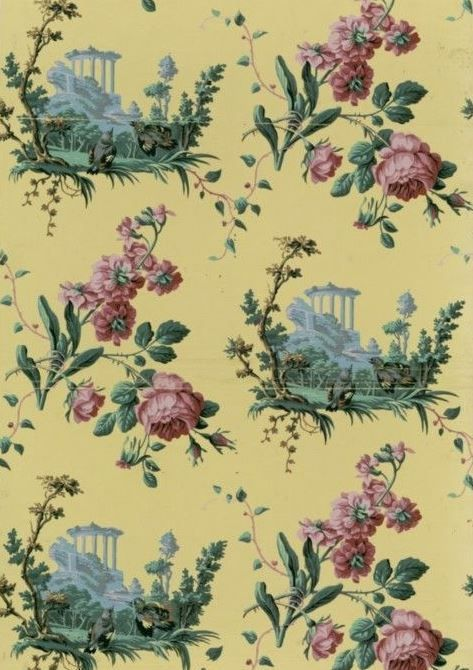 Wallpaper, 1801. National Library of France, Public Domain