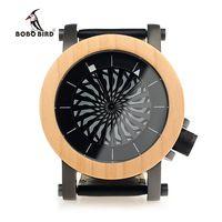 Бобо птица M07 механические часы лучший бренд Роскошные клен сосна деревянные наручные часы для мужчин прохладный Вращающийся набор роскошн...