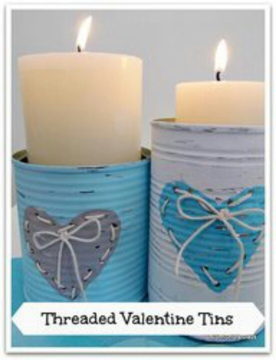 Threaded candle tins...love!!