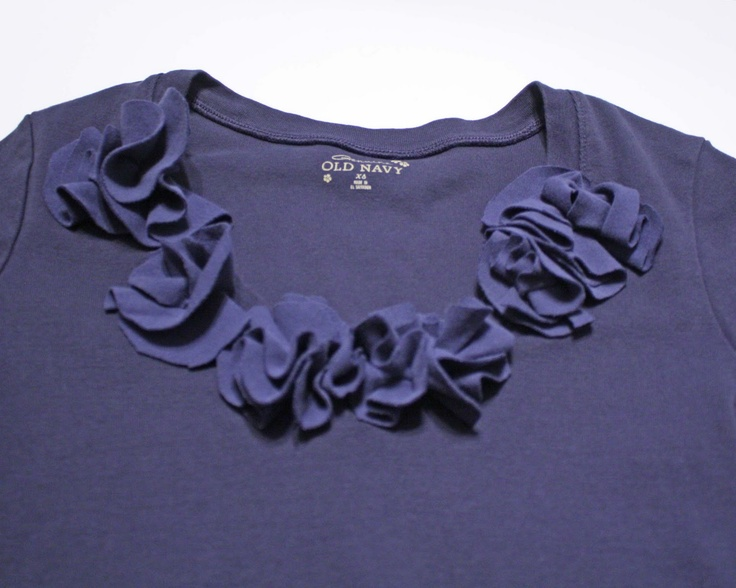 Melly Sews: Navy blue t-shirt redo