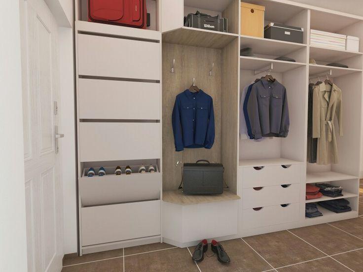 Návrh vestavěné skříně-vnitřní prostor #dbdesign #wardrobe #visualization