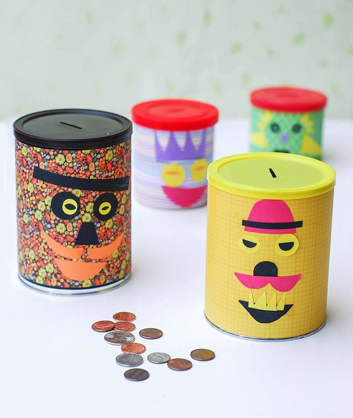 Get creative with the kids while teaching them about recycling and saving money at the same time. These cute, DIY Piggy Banks are made out of empty soup cans and are an easy kid's craft.