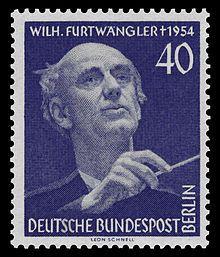 Furtwängler commemorated on a stamp for West Berlin, 1955