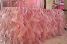 tabla de color rosa de falda tutú