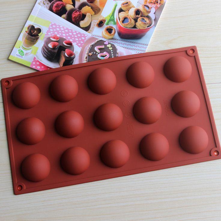 Kreatywny DIY 15 nawet kopuły silikonowe formy ciasto czekoladowe formy budyń formy CDSM-268