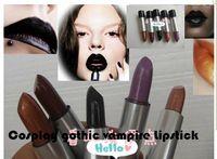 5 pcs marca de cosméticos Cosplay gótico champán vampiro oro la luz del grano de uva púrpura púrpura oscura del Cyber maquillaje del lápiz labial púrpura
