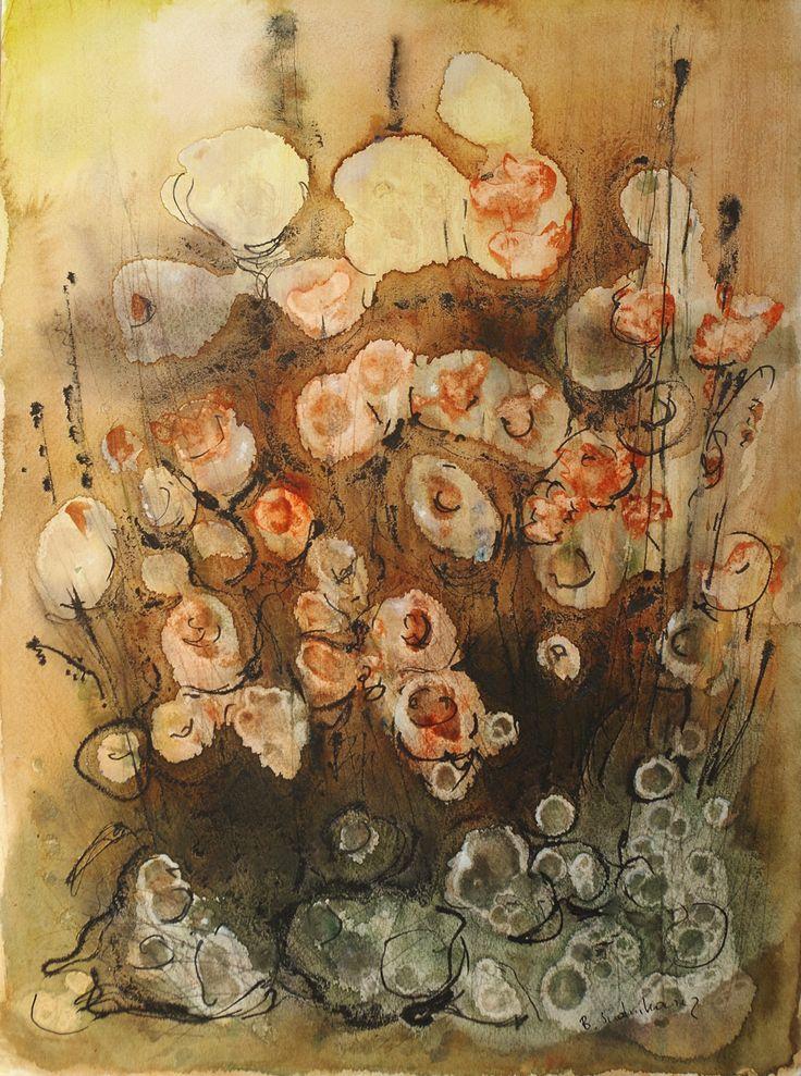 Flowers impressions, Bernadeta Sudnikowicz, akwarela papier 300g, 46 x 34 cm, 2016