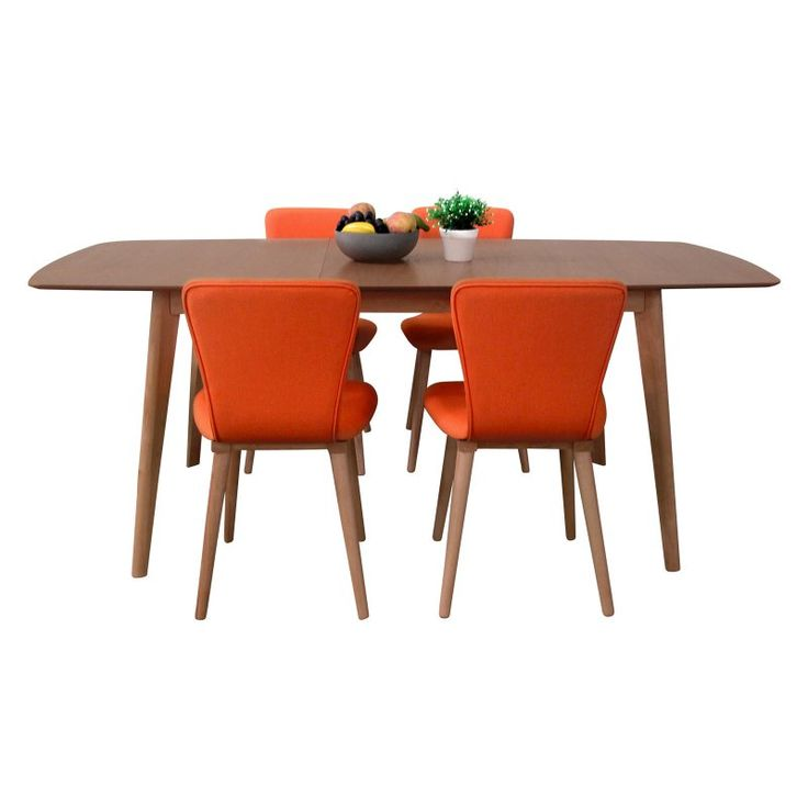 Midtown Concept Marianne Mid-Century 5 Piece Dining Set - FEDTAB_NA_4DACH TG