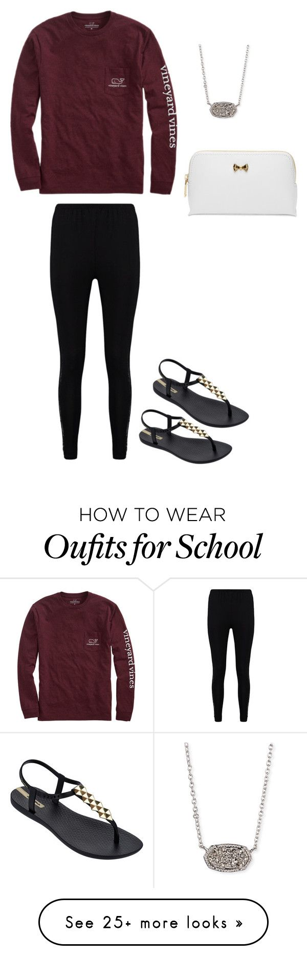 """School day"" by marthaec on Polyvore featuring Vineyard Vines, Boohoo, IPANEMA, Kendra Scott and Ted Baker"