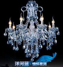 новый перечисленными 8 arms/bulbs современный воды синий кристалл люстра спальня лампа