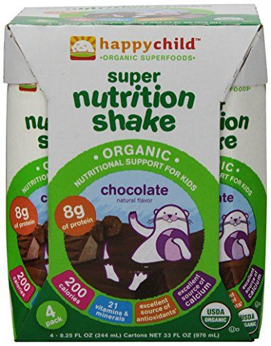 Happy Child Super Nutrition Shake, Chocolate, 8.25 Ounce, 4 Count - http://www.exercisejoy.com/happy-child-super-nutrition-shake-chocolate-8-25-ounce-4-count/fitness/