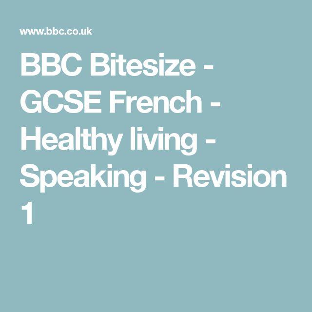 BBC Bitesize - GCSE French - Healthy living - Speaking - Revision 1