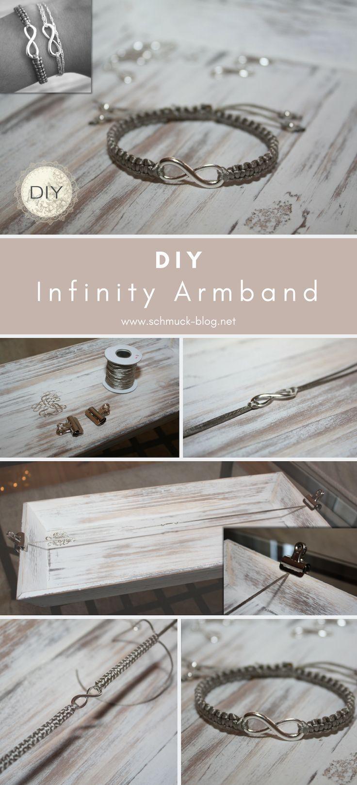 DIY Armband mit Unendlichkeitssymbol – Schmuck Blog DIY's