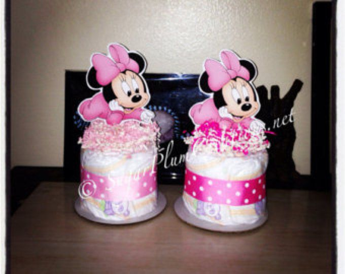 Baby Disney Characters Diaper Cake Mini/Baby Disney Diapercake Minis/Baby  Mickey Mouse Baby Shower/baby Minnie Mouse Baby Shower/donald