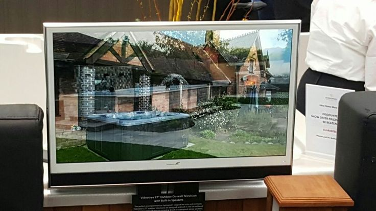 """Videotree 27"""" White Outdoor TV with Speakers - Weatherproof, Waterproof Outdoor TV at the Ideal Home Show 2016"""