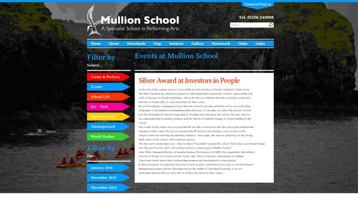 IIP Silver for Mullion School