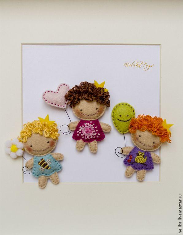 Купить ПрЫнцесска - голубой, принцесса, брошь, брошь из фетра, ромашка, пчела, веселые брошки, для детей