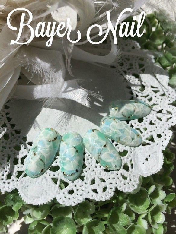 爽やかさ満点◎ミントグリーンネイル♡ グリーンの花嫁衣装に合うネイルまとめ。ウェディングドレス・カラードレス・色打掛に合うネイル一覧。