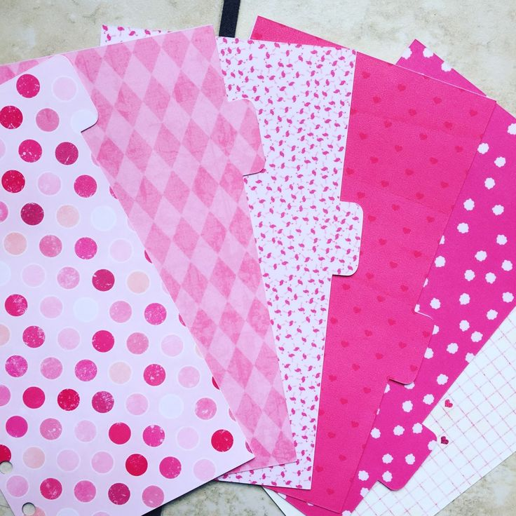 Pink Personal Size Filofax Dividers | My Planner Envy