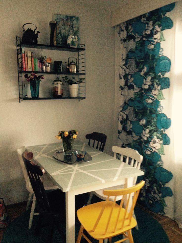 Diy,  Deco, Home, Dinning room, Table  Valilla Rakkaus, String-hylly