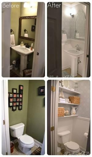 Half bath before and after. by Mgauna
