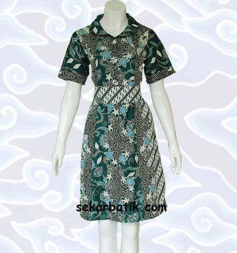 dress batik pekalongan modern BD33 katalog di http://sekarbatik.com/dress-batik/