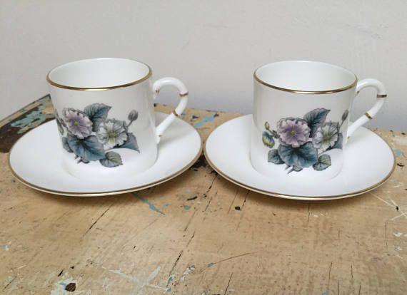 Vintage demitasse cup and saucer set of 2. Made in Engeland