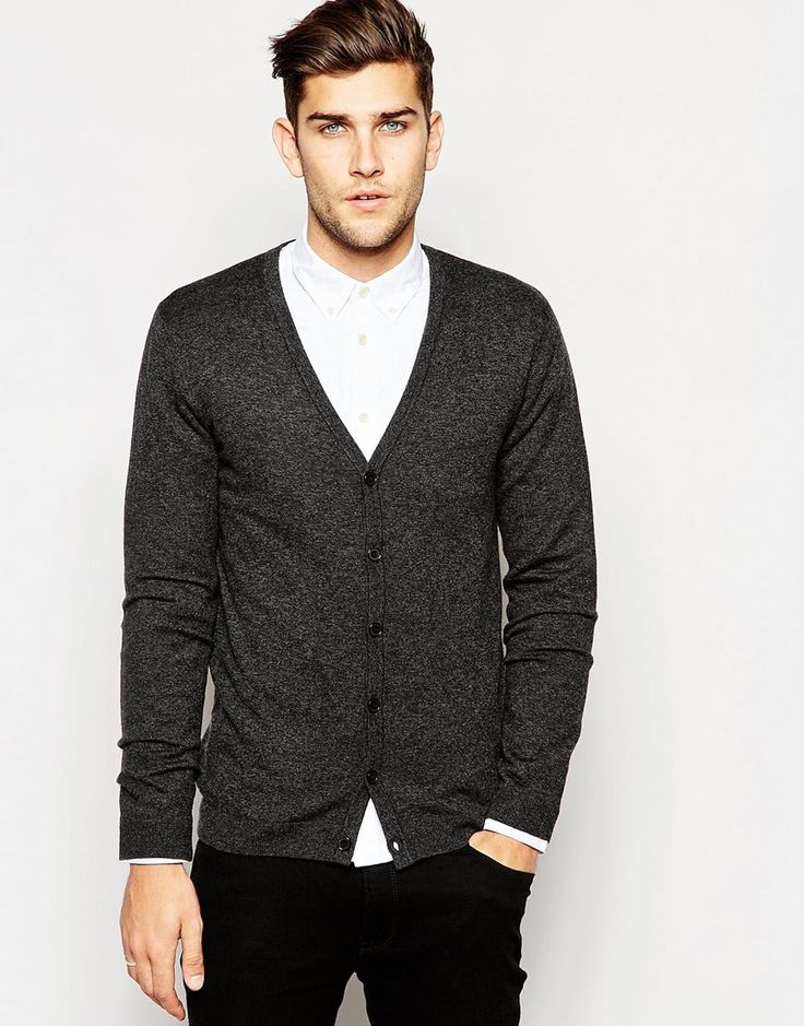 ASOS+Cardigan+in+Merino+Wool+Mix