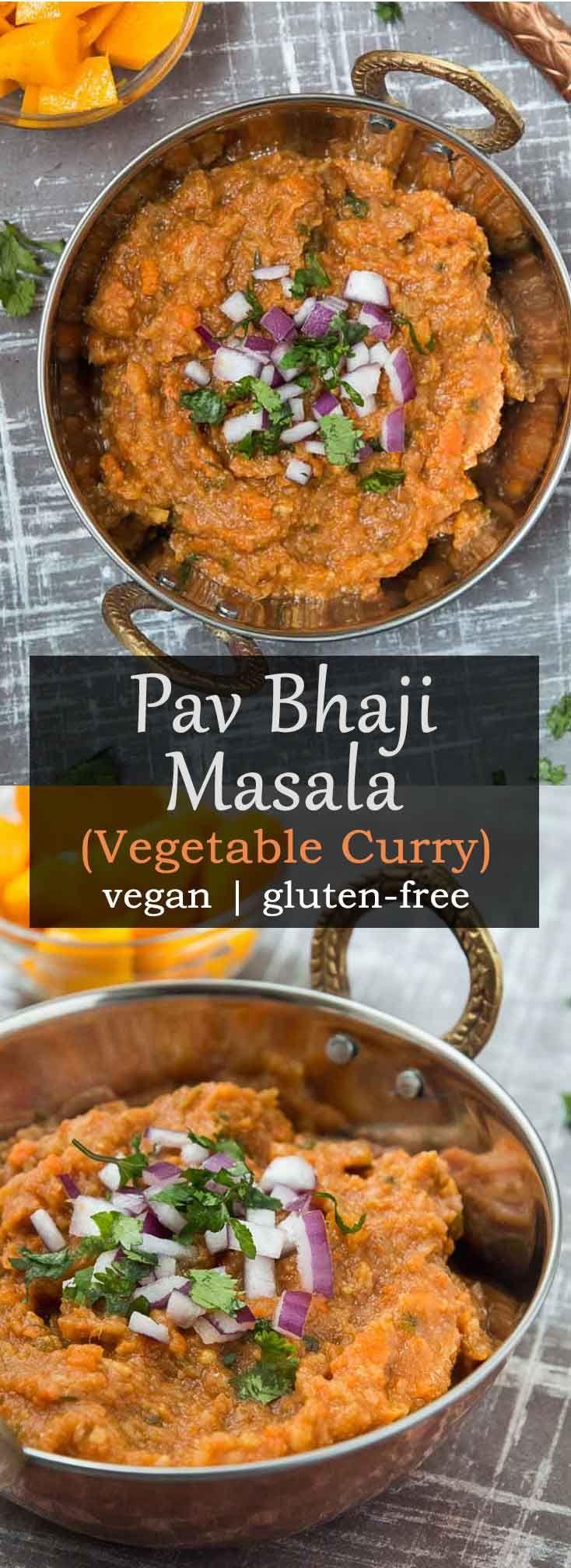 Pav bhaji Masala Recipe (Vegetable Curry) #vegan #glutenfree #healthy   Vegetarian Gastronomy   www.VegetarianGastronomy.com