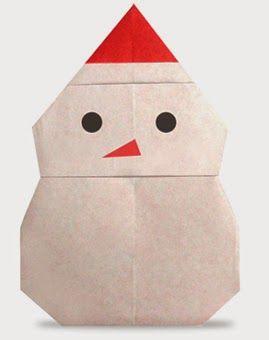 Origami Snowman 2