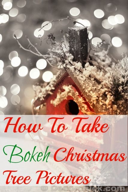 How to take Bokeh Pictures via @Decor_Chick