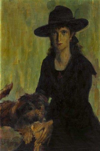 """TOZZI, MARIO Fossombrone 1895 - 1979 Saint-Jean-du-Gard """"Ritratto di Rita Guglielmi"""" 90x60cm"""