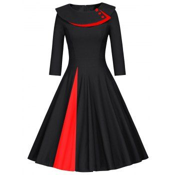 GET $50 NOW | Join Dresslily: Get YOUR $50 NOW!http://m.dresslily.com/pleated-color-block-a-line-dress-product1926779-html-product1926779.html?seid=p4ltQ6l4OCbUtvSh8Mb2d4GKO4