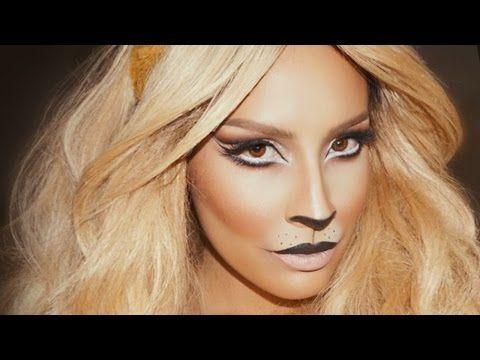 Lion Halloween Makeup | Desi Perkins - YouTube