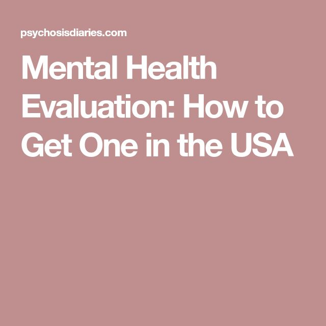 The  Best Mental Health Evaluation Ideas On