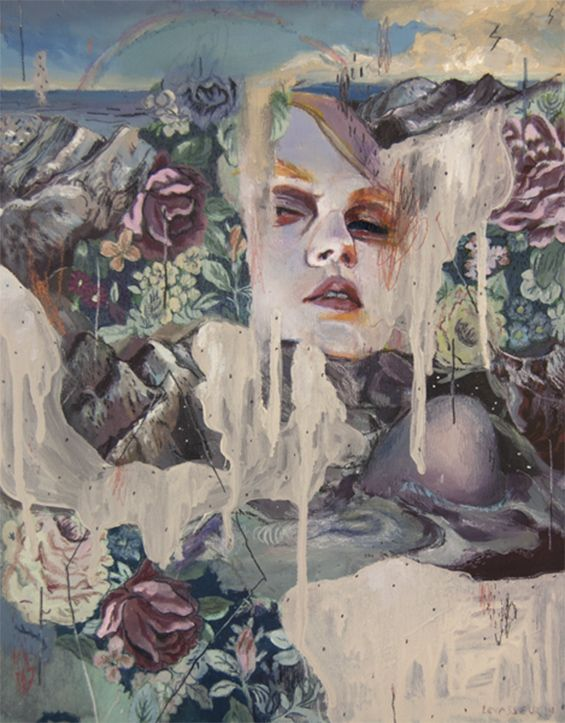 Alexandra Levasseur Portrays Tragically Beautiful Women Filled With Dripping Color And Melting Flora
