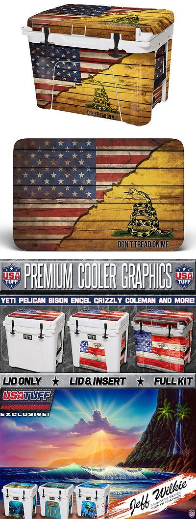 Camping Ice Boxes and Coolers 181382: Skin Decal Wrap 24Mil Yeti Roadie 20Qt Cooler Full Sticker Gasden Don'T Tread -> BUY IT NOW ONLY: $45.95 on eBay!