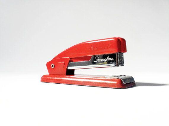 Vintage Red Swingline Stapler Retro Red by WurdeSeinVintage, $15.00